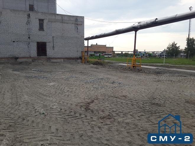 Демонтаж арочного склада на территории производственной базы в Тюменской области