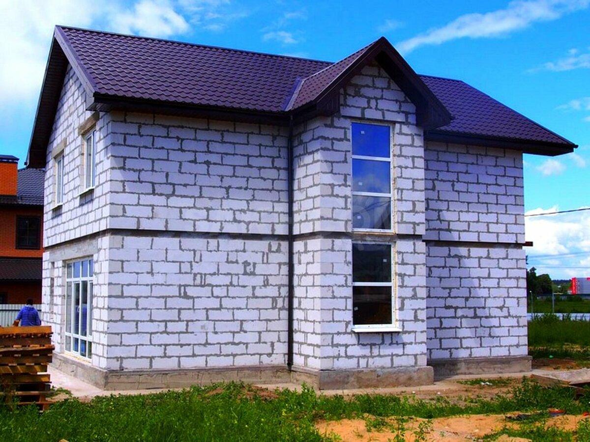 Старый дом из газобетона фото