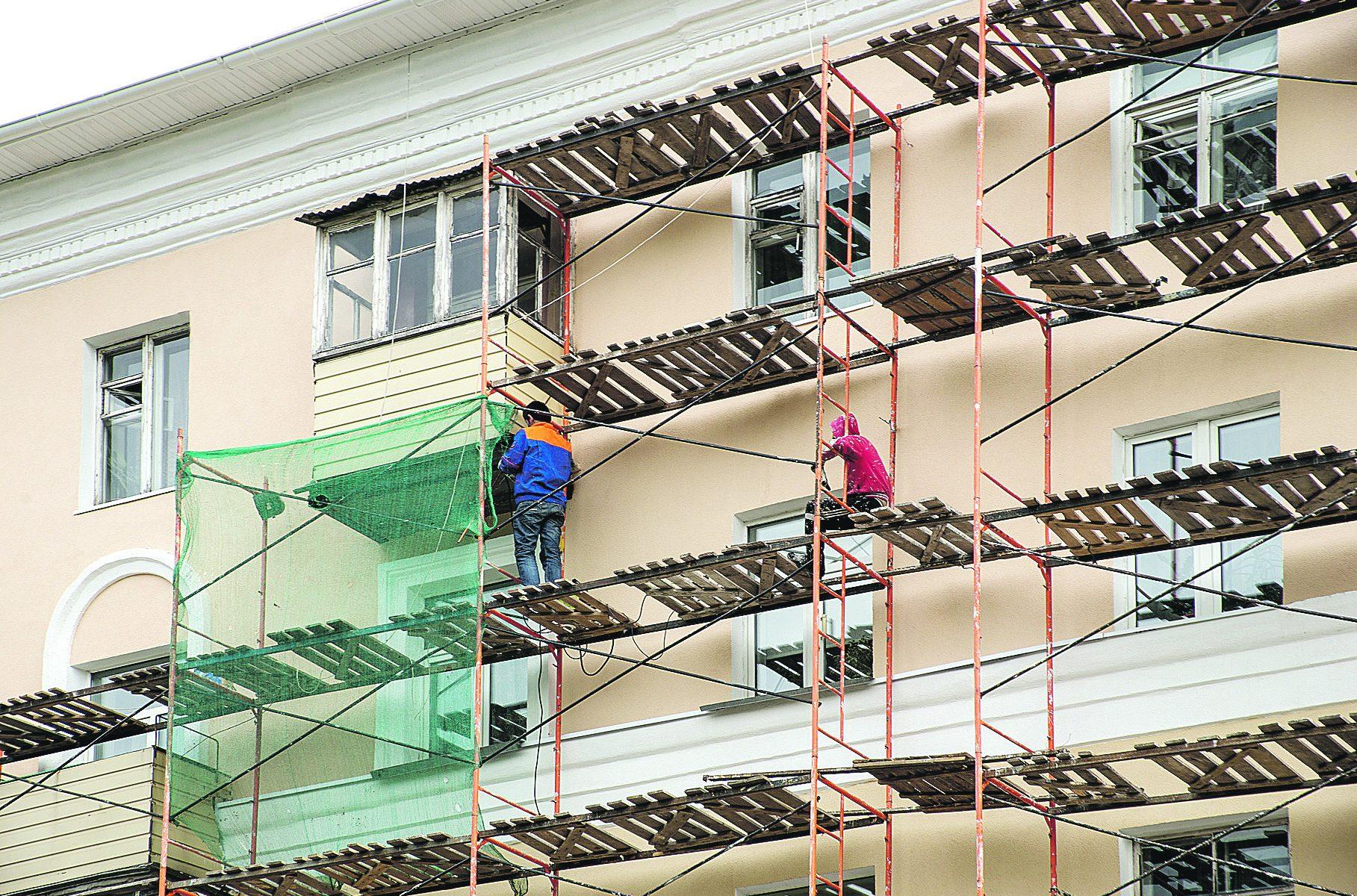 ремонт штукатурки фасадов зданий
