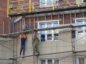 Монтаж фасадов