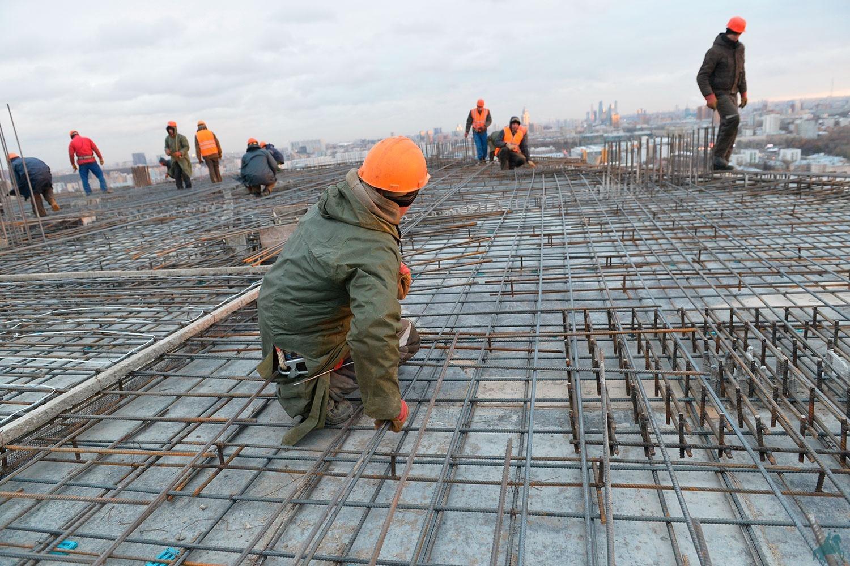 бетонные работы на высоте
