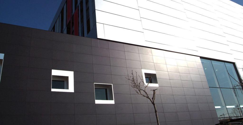 Отделка фасада здания плиткой